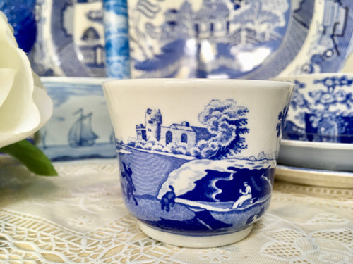 Spode, Blue and White, Transfer, 'Italian' Candle holder.