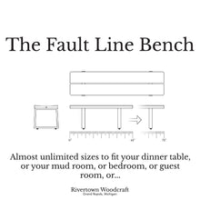 Load image into Gallery viewer, Fault Line Bench