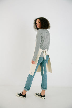 Natural Japanese Denim Apron - MN Uniform