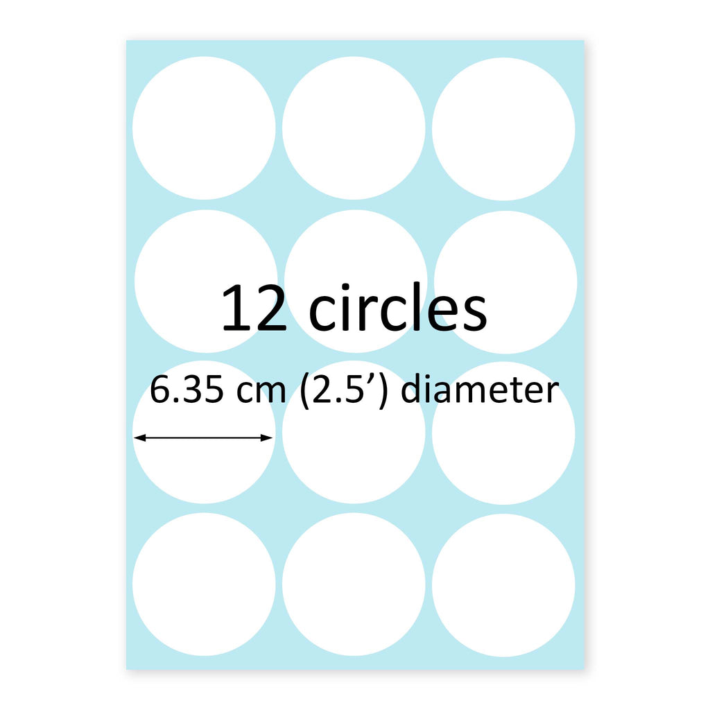 12 x 6.35 cm Round Standard Cookie Edible Icing Images - printsoncakes