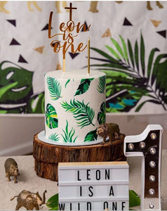 Tropical Leaves - Icing Cake Wrap - printsoncakes