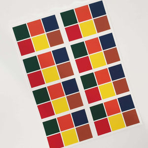 Paint Palettes PYO  - Primary Colours (Sheet of 8 palettes) - printsoncakes