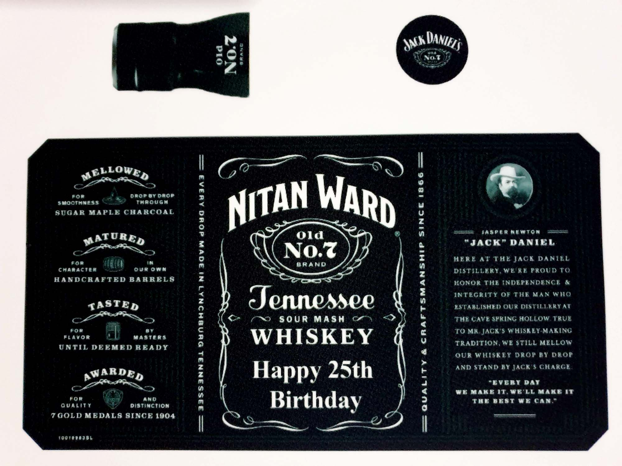 Jack Daniel's Label - Personalised Edible Image toppers - printsoncakes