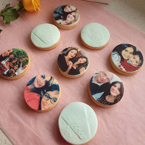 6 x 7 cm Round Cookie Custom Edible Icing Images - printsoncakes