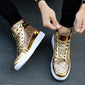 mens gold sneakers