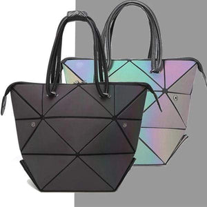 Luminous Geometry Folding Handbags