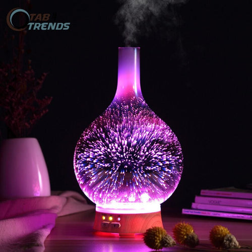 3D Firework Air Humidifier with 7 Color LED Essential Oil Diffuser