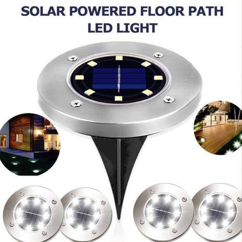 Solar Garden Ground LED Lights Outdoor Diamond Stake Lights Landscape Lighting Stainless Steel Pathway Lights for Walkway Patio Yard Lawn Driveway Flowerbed Courtyard Decoration