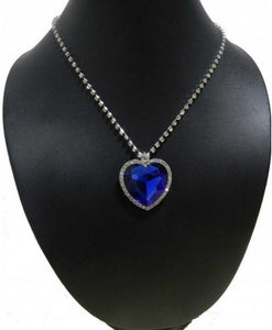 Titanic Heart of Ocean Necklace + Velvet Bag