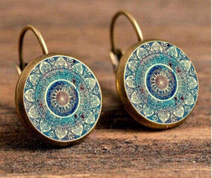 Charm Mandala Art Picture Earrings