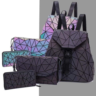 Luminous Geometric Backpack set | Light Up Backpack | Awesome Backpacks