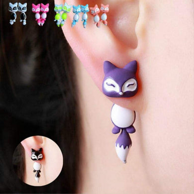 Cute fox earrings