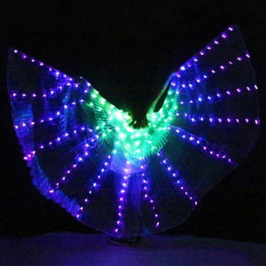LED Butterfly Costume | LED Dance Wings | Rainbow Light up Wings