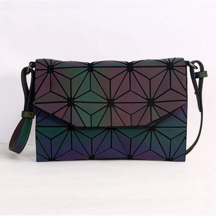 Luminous Geometry Clutch Handbags - Tab Trends