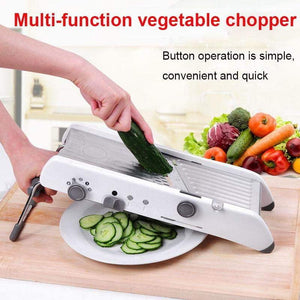 Mandolin Slicer Manual Vegetable Cutter Professional Grater With Adjustable Stainless Steel Blades Vegetable Kitchen Tool - Tab4Trends