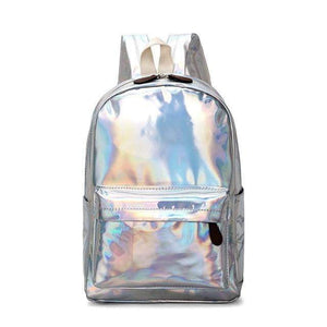 Holographic Leather Backpack - Tab Trends