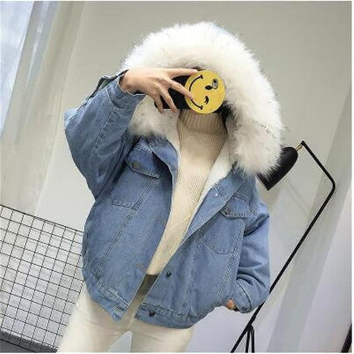 Fur Collar Denim Jacket