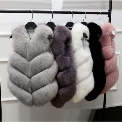Faux Fur Vest Coat For Ladies