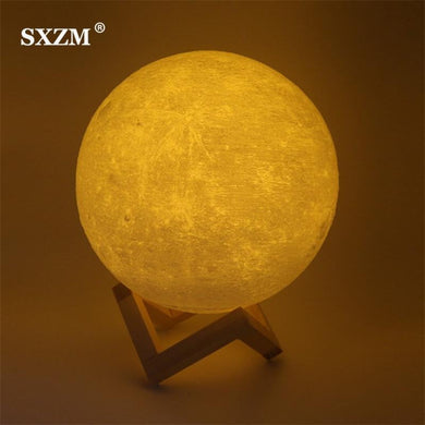 Night Light 3D Printing Moon Lamp - Tab Trends