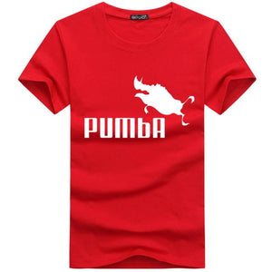 funny tee cute t shirts homme Pumba men short sleeves cotton tops cool t shirt summer jersey costume Fashion t-shirt