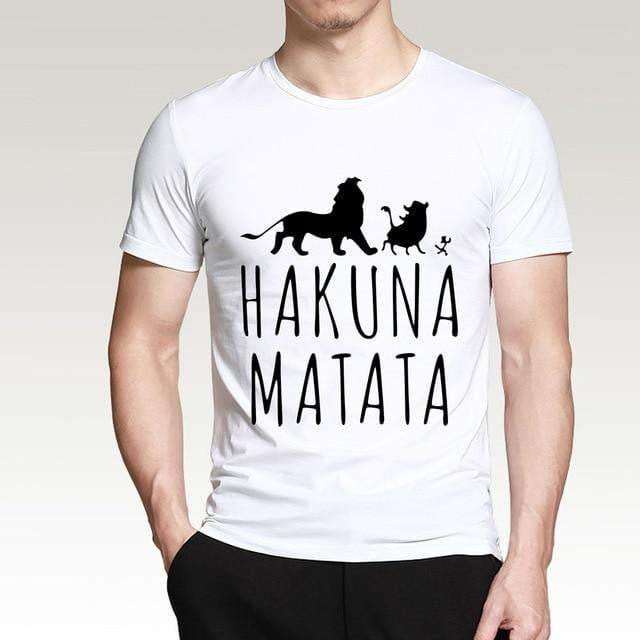Men T Shirt 2019 Summer 100% Cotton High Quality Men T Shirt Slim Fit Casual Anime T-Shirt The Lion King Tops Tees