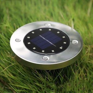 12 LED Solar Buried White Light Waterproof Underground Lamp Path Way Garden Decor for Yard Driveway Lawn Pond Pool Path