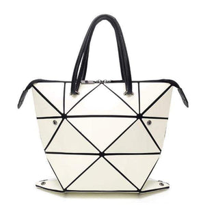 Luminous Geometry Folding Handbags - Tab Trends