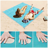 Magic Beach Mat Outdoor Travel Magic Sand Free Mat Beach Picnic Camping Waterproof Mattress Blanket Fordable Sandless Beach Mat - Tab4Trends