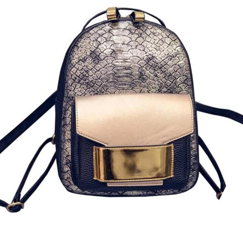 Snake Skin Leather Backpack