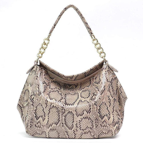 Snakeskin Handbag | Real Genuine Leather Snake Print Shoulder Bags