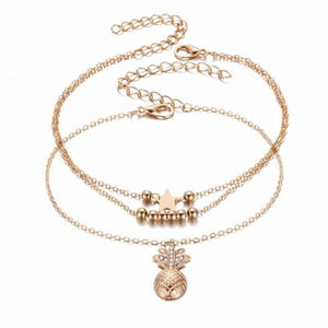 Pineapple Crystal Anklets - Tab Trends