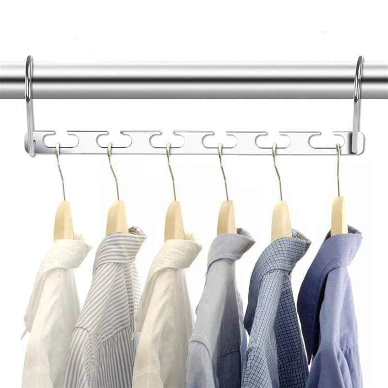 6pcs Stainless Steel Magic Hanger - Perfect space savor helps organize your closet | Tab4Trends
