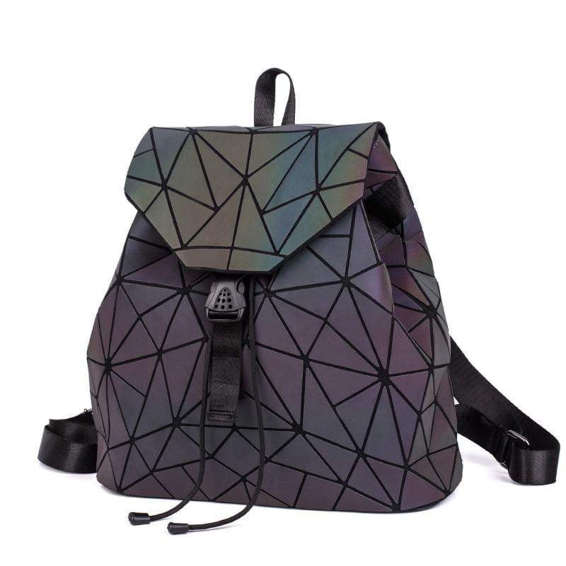 Luminous Backpacks Fashion Girl Daily Backpack School Female Geometry Folding Bao School Bag Travel Bagpack Mochila