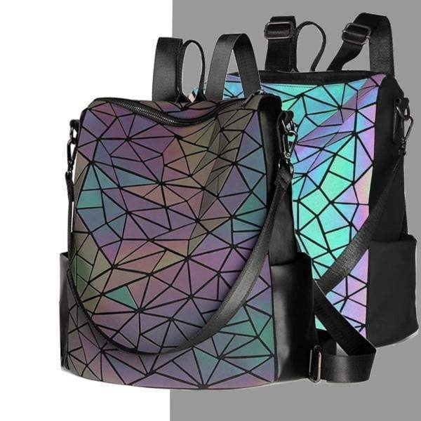 Luminous Geometric Backpack Multi-Functional | light up backpack
