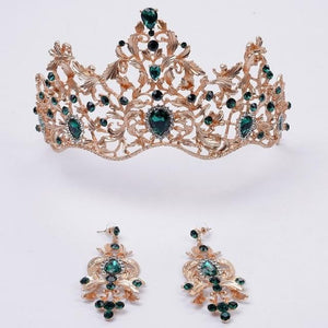 Magnificent Royal Crown With Earrings