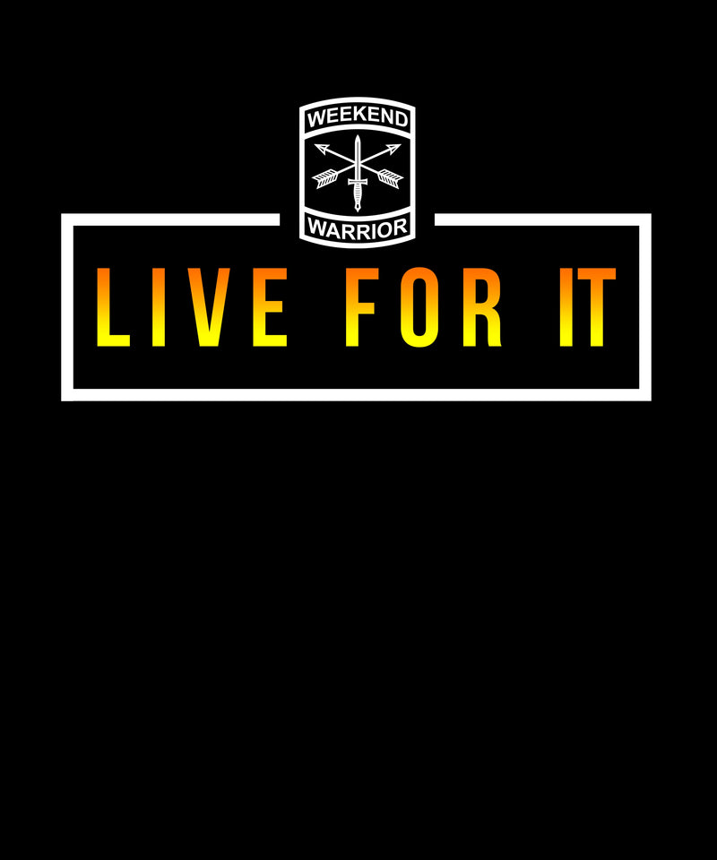 Live For It Boxed Text - Solid Print