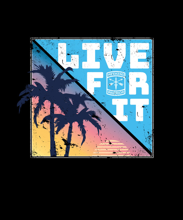 Live For It California Palm Trees - Distressed Print