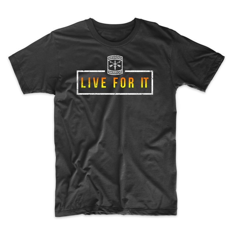 Live For It Boxed Text - Distressed Print