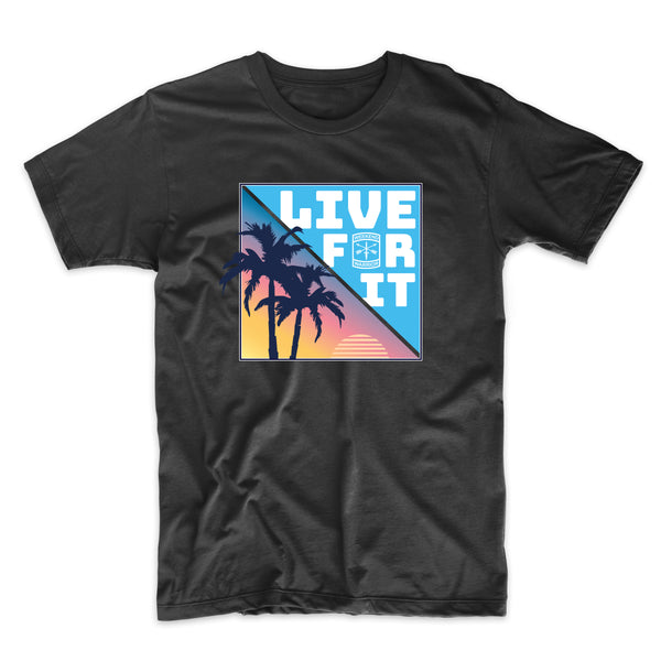 Live For It California Palm Trees - Solid Print