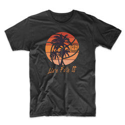 Live For It California Palm Trees Volleyball - Solid Print