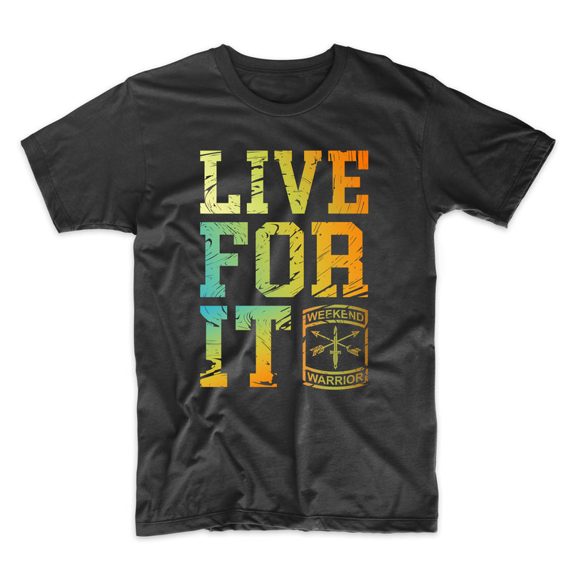 Live For It Distressed Large Text