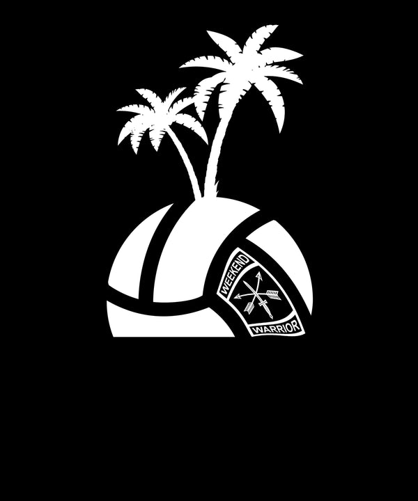 Island Volleyball Logo Face Down - Solid Print