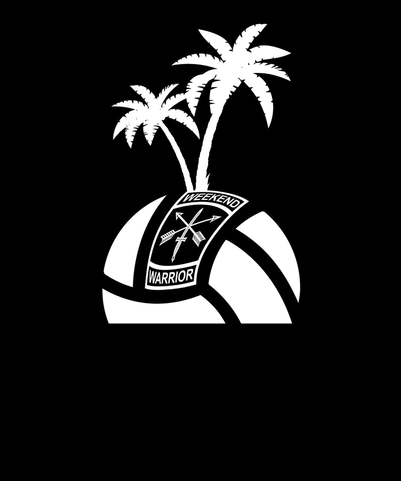 Island Volleyball Logo Face Up - Solid Print