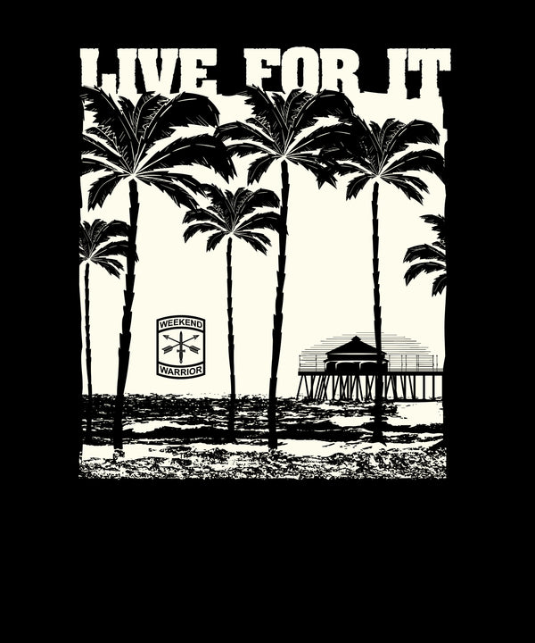 Live For It Beach Palm Trees - Solid Print