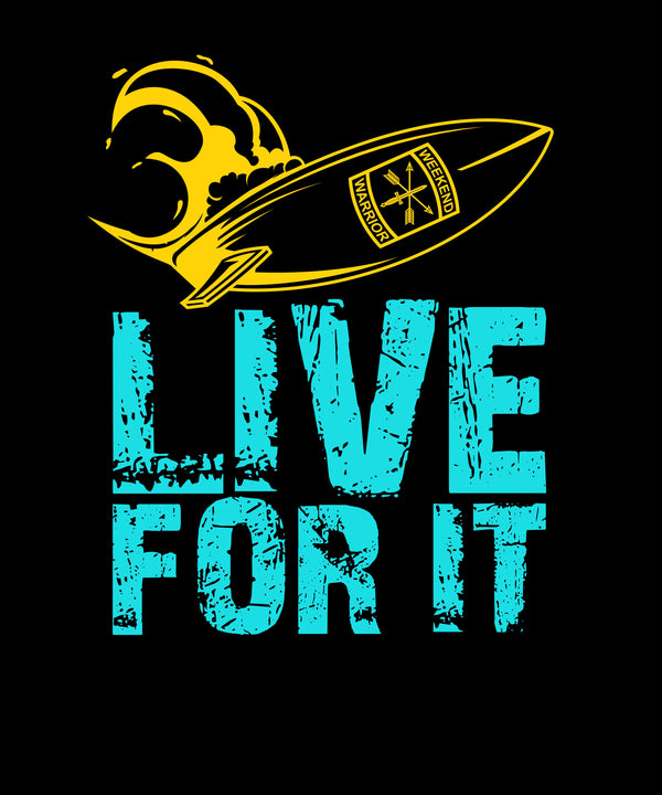 Live For It Surfing Board And Waves