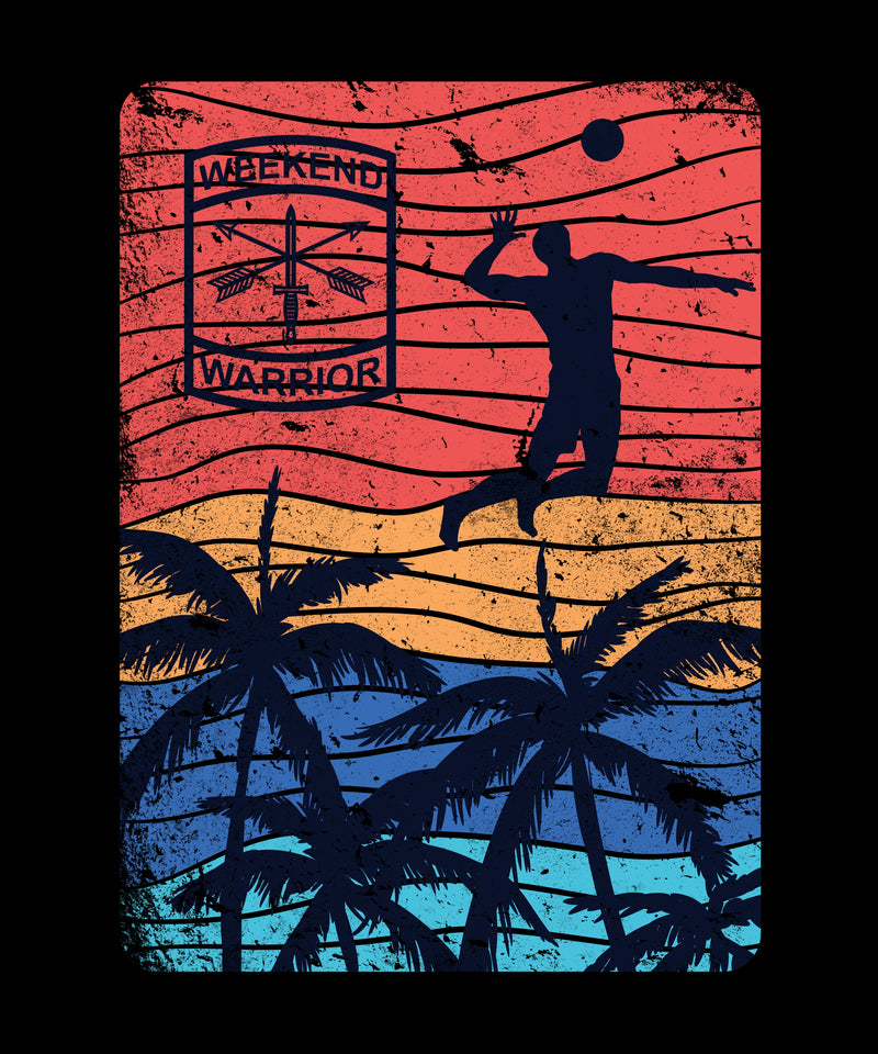California Volleyball Silhouette Spike - Distressed Print