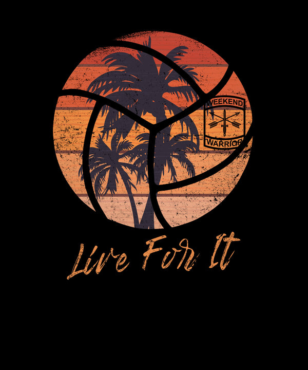 Live For It California Palm Trees Volleyball - Distressed Print