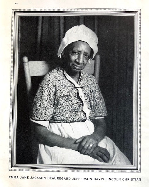 (African American - Virginia) Jackson, Emma Jane.  Emma Jane's Souvenir Cook Book...and Some Old Virginia Recipes collected by Blanche Elbert Moncure, Williamsburg, Virginia.