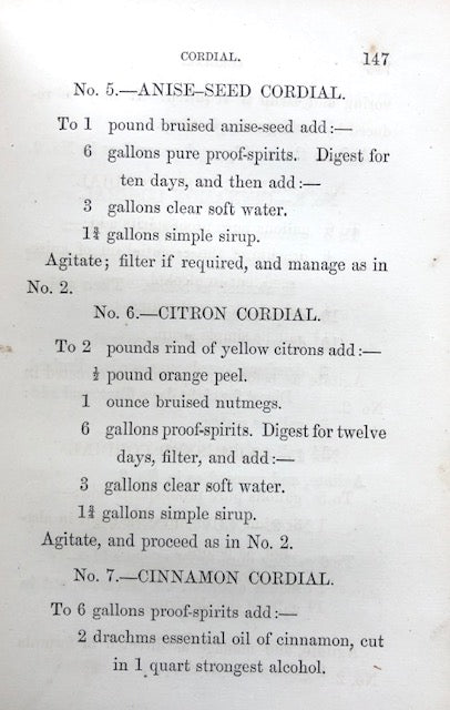 "(Liquor) ""A Practical Chemist"".  A Treatise on the Manufacture, Imitation, Adulteration, and Reduction of..."