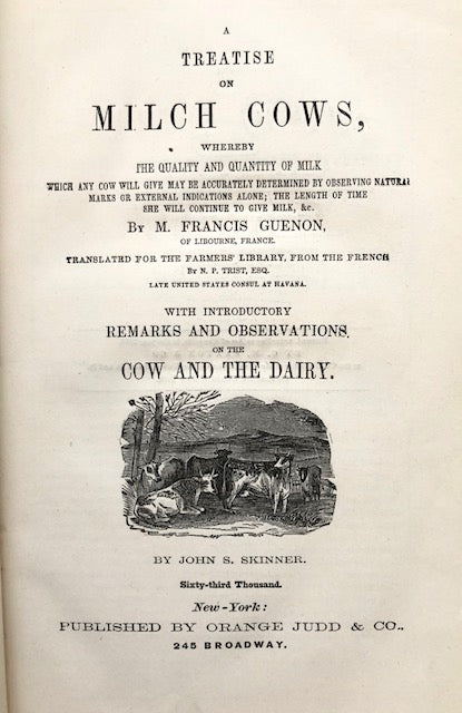 (Dairy) Guenon, M. Francis. A Treatise on Milch Cows.